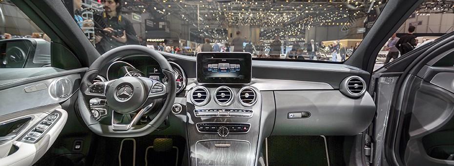 Tableau de bord de la  Mercedes Classe C Berline