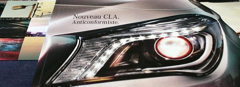Brochure de lancement du CLA de Mercedes
